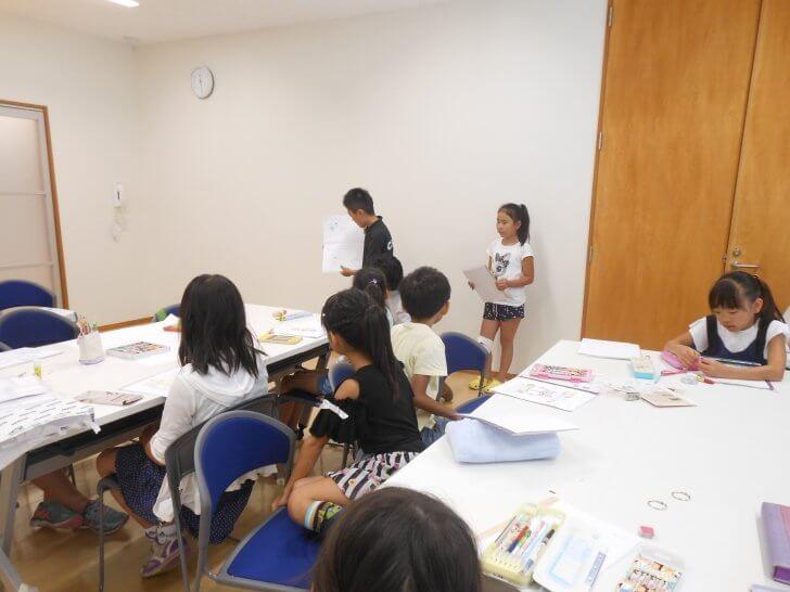 2017笠間公民館「オリジナル絵本をつくる」:絵本を発表する様子